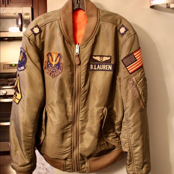 acf9566b Ralph Lauren Reversible Twill Bomber Jacket